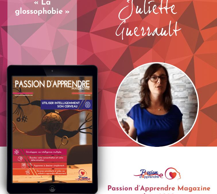 Participation au journal Passion d'Apprendre –  glossophobie
